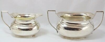 Vintage W. Neale English Sterling Silver Creamer Pitcher and Sugar Bowl