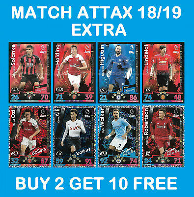 Match Attax EXTRA 2018/19 18/19 Updates New Signing Ballers Flying Full Backs