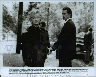 1989 Press Photo Dolly Parton, Sally & Sam Shepard in Steel Magnolias
