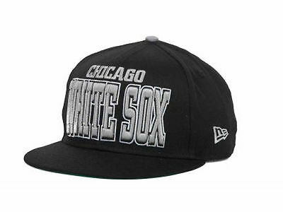 finest selection 76264 ba00e Chicago White Sox New Era MLB Solid 9FIFTY Black Snapback Hat Cap