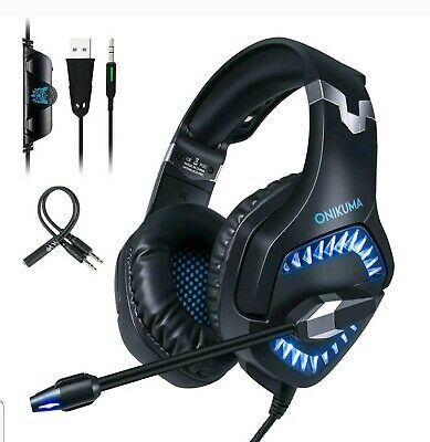 ONIKUMA K1 Pro Stereo Bass Surround Gaming Headset for PS4 New Xbox One PC Mic