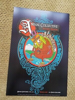 ANIMAL COLLECTIVE FILLMORE POSTER Wizard Prison ORIGINAL BILL GRAHAM F888