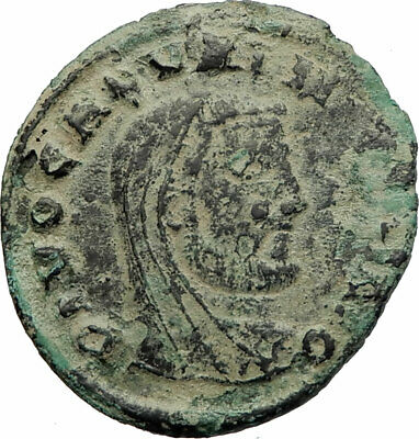 GALERIUS Veiled DIVO  311AD HUGE Ancient Roman Coin Fortuna Very rare i76933