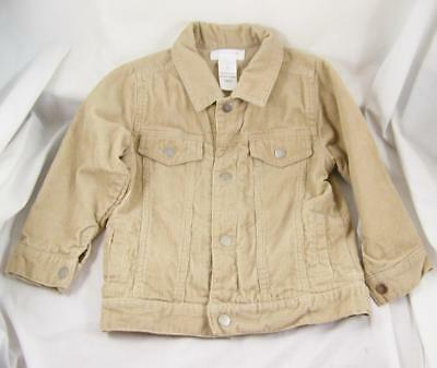 f0a26dab07489 Wonderkids Khaki Tan Corduroy Jacket Boys 3T Snap Buttons Kids Unisex Girls  EXCL