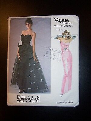 Vogue 1853 sewing pattern, misses dress, size 10, Bellville Sassoon