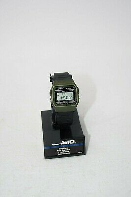 Casio Men's Quartz Alarm Chronograph Black Resin Band 38Mm Watch F91wm-3A