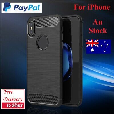 Carbon Fiber Shockproof Heavy Duty Case Cover For iPhone 6 7 8 Plus X XS XS Max