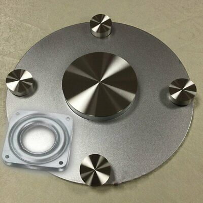"4"" Square Rotating Swivel Plate Metal Lazy Susan Bearing Turntable TV Rack To GR"