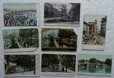 1907 ? Postcards: New York City, Boston, Atlantic City Bathing, Florida Negros