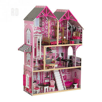 KidKraft 65944 Bella Wooden Dolls House with furniture and accessories...