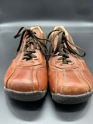 ee8b7fb661d STEVE MADDEN MENS Shooter Brown Leather Lace Up Shoes w Stripes