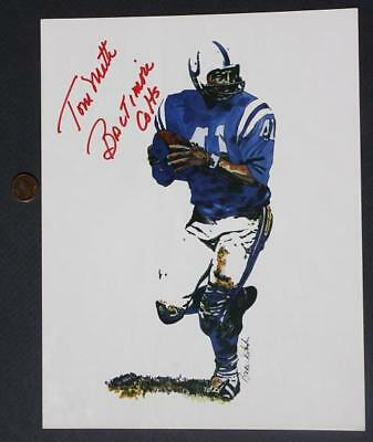 1961-72 Baltimore Colts Tom Matte Signed/Autographed color photo # 3-Ohio State*
