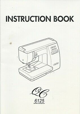 Instruction Book (owners manual)  Janome QC 6125