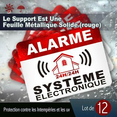 Autocollants Dissuasifs Alarme Surveillance Electronique Lot