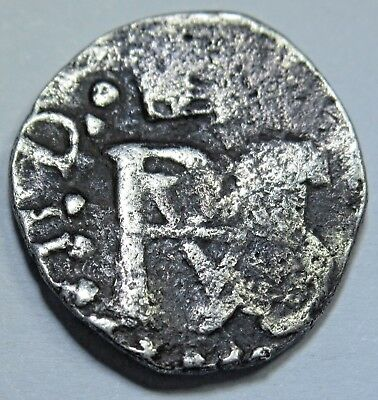 1600s-1700s Spanish Silver 1/2 Reales Piece of 8 Real Cob Pirate Treasure Coin