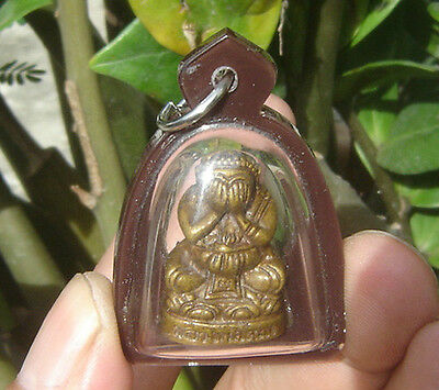 "Pendant statue bronze Closed Eye Buddha""Phra Bit Tah""Buddhist art"