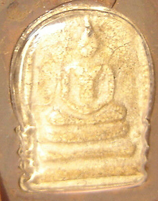 Pendant Tablet Fired clay famous monk Pra Somdaj Wat Rakang Thai Saint#