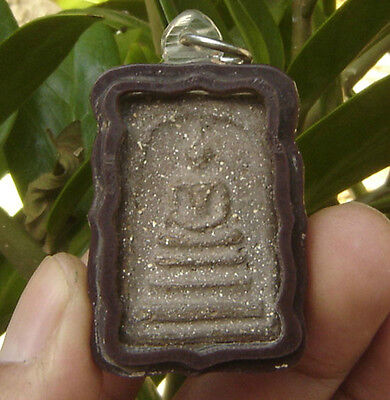 Locket Holy fired clay famous monk Pra Somdaj Wat Rakang Thai Saint