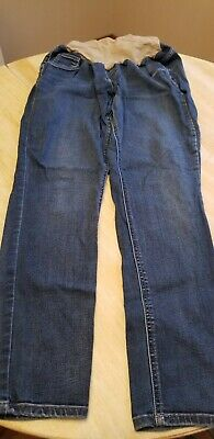 f8c45a6c21ad6 JESSICA SIMPSON MATERNITY Jeans/Jeggings Size XL gray Damask print ...
