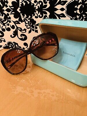 6975d23a18ef TIFFANY & CO Butterfly Sunglasses TF3058 60213B Pale Gold/Brown ...