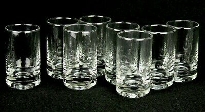 Vintage Set of 8  Clear Thick Heavy Shot Cordial Glasses  Bar / Man Cave  2-7/8""