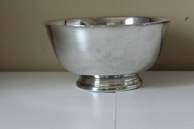 Silver Plated Paul Revere Reproduction Serving Bowl Oneida  Silverplate