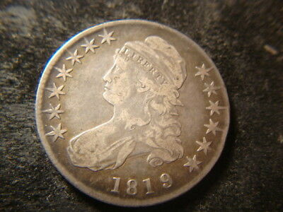 1819/8 VF Capped Bust Half Dollar Defect Free Coin BLT