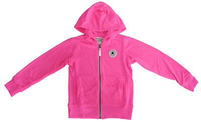 Converse All Star Pink Hoodie Girls 5-6 Years TD091 FF 01