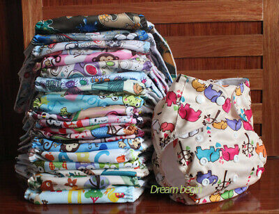 Reusable Baby Cloth Diapers Washable Pocket Nappies Insert - One Size fit most