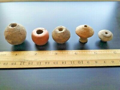 Ancient Celtic load for a manual spindle, 5 items! Original Antiques!
