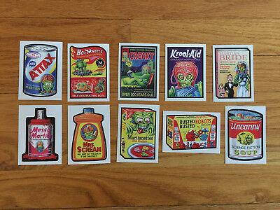 Wacky Packages 2018 Mars Attacks Sticker Set