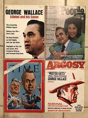 1968 DEMOCRATIC Hopeful Alabama GEORGE WALLACE No Label SET Lot of 4 Issues