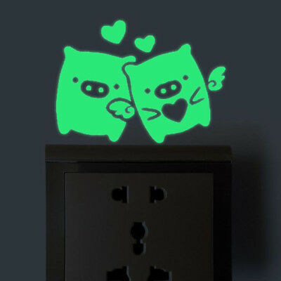 Luminous Switch Sticker Pig Glow in the Dark Stickers Tape Wall Switch Decor D