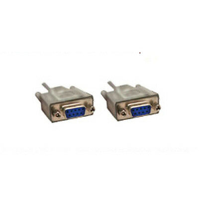 Lot100 6ft DB9pin Female~F Null Modem Cross//Nul wired,Serial RS232 Cable//Cord$SH