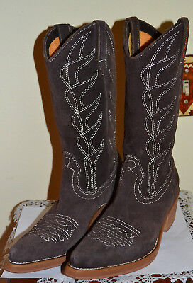 efb9ad1eca2 ROCKET DOG 8 Cowboy Cowgirl Boots Brown Tan Suede Western - $40.99 ...