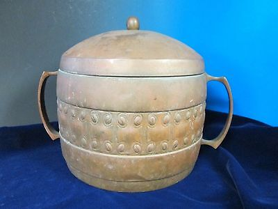 Antique Hand Hammered Large Covered Pot WMF Circa 1900 Arts & Crafts Beauty!