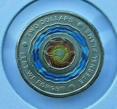 2018  AUSTRALIAN 2 DOLLAR  ETERNAL FLAME  COIN.   Mint condition from  roll.