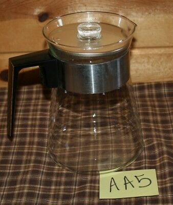 Vintage Glass Coffee Pot 10-12-Cup ? Replacement Decanter Carafe Home Black AA5