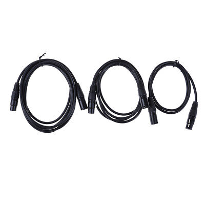 XLR 3-Pin Male to Female Microphone Audio Mic Extension Cord Cable Black  LU