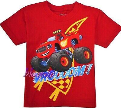 BLAZE & MONSTER MACHINES Red Tee T-Shirt NEW Toddler's Size 2T, 3T or 4T