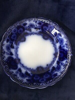 Flow Blue 7 1/2 Seville Cereal Bowl New Wharf Pottery England