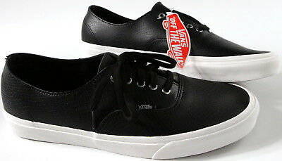 bf70e3b230 VANS AUTHENTIC Decon Black Snake Leather Shoes-12-NEW- OTW classic skate  Sneaker
