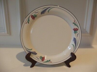 "Lenox China Chinastone Poppies on Blue Dinner Plate 10 3/4"" (1)"