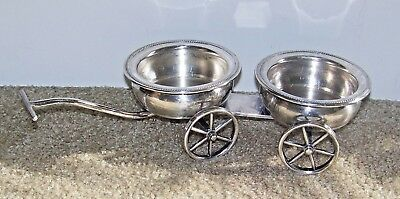 F B Rogers Silver Co 1883 Vintage Condiment Wheeled Cart Wagon