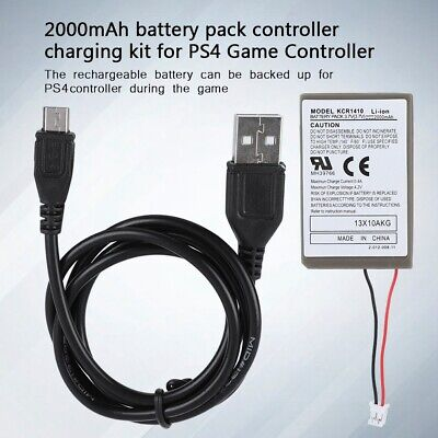 3.7V 2000mAh Rechargeable Battery for PS4 PS.3 Sony Playstation 4 Controller USB