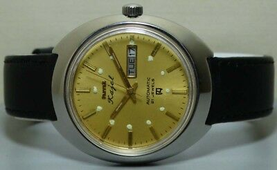 Vintage Hmt Automatic Mens Wrist Watch Old Used Antique r804