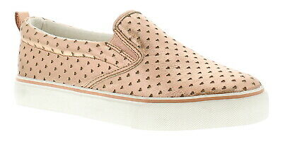 Miss Riot Bailey Girls Kids Canvas Shoes Pumps Trainers Rose Gold UK Size