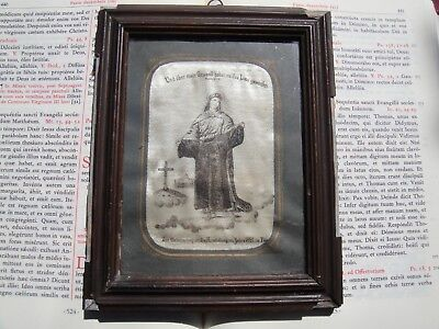 Christian rare framed relic 1800s Holy Robe Tunic Passion Jesus Christ COA