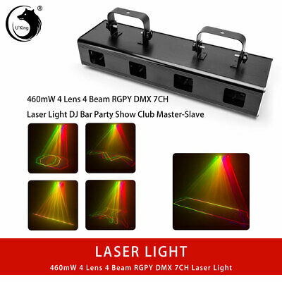 U`King 460mW RGYV 4 Lens Laser Stage Light DMX Projector Party Disco DJ Lights