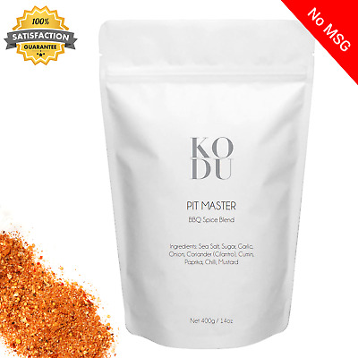 Kodu Pitmaster, BBQ Spice Dry Rub Blend - Ribs Grill Seasoning 400g Value Pouch